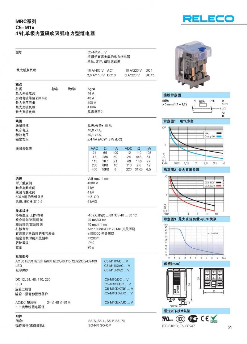 MRC标准型继电器C5-M1x